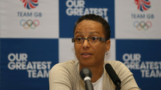 Hope Powell, coach of Great Britain's Olympic Football Women's team