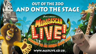 Catch Madagascar Live! at Wembley Arena from March 1 - 3