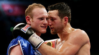 Froch embraces Groves after defeating him at Wembley