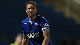 Ian Evatt in action for Chesterfield