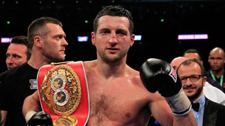 Froch celebrates his victory