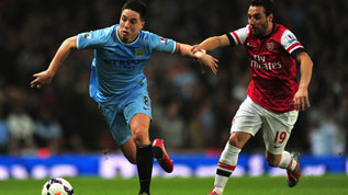 Manchester City face Arsenal