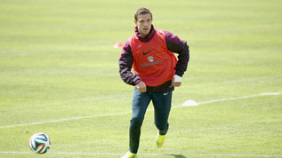 Henderson in England training