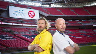 Who will win Sport Relief's 'Battle of the Backsides' at Wembley?