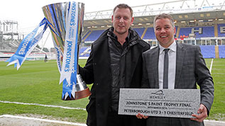 Peterborough's JPT win will be commemorated by a Wembley Stone