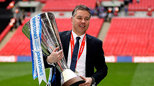 Darren Ferguson with the JPT at Wembley