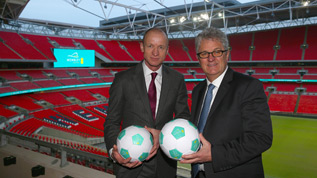 EE's Olaf Swantee and Wembley's Melvin Benn