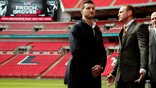 Froch-and-Groves face off on the Wembley pitch