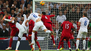 Gary Cahill scores England's second